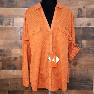 Columbia Texas Longhorns Button Down Shirt
